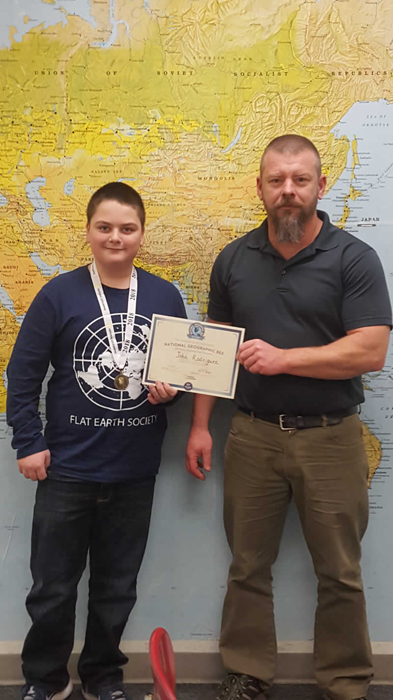 John Rodriguez Geography Bee Winner